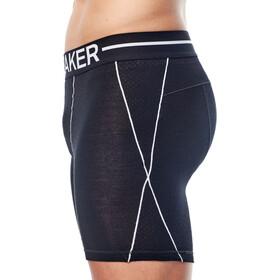 Icebreaker M's Anatomica Zone Long Boxers black/white